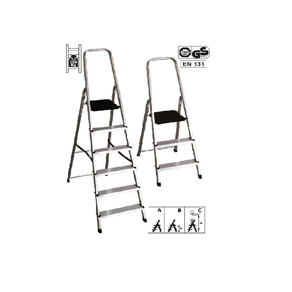 Altezza Gradini Scala scala in alluminio a libro 4 gradini maurer
